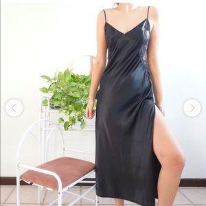 Elegant Satin Maxi Slip Dress Victoria's Secret